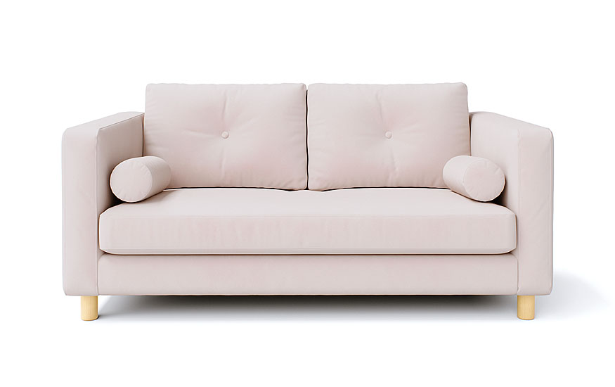 IKEA Karlstad 2 Seater in Rouge Blush