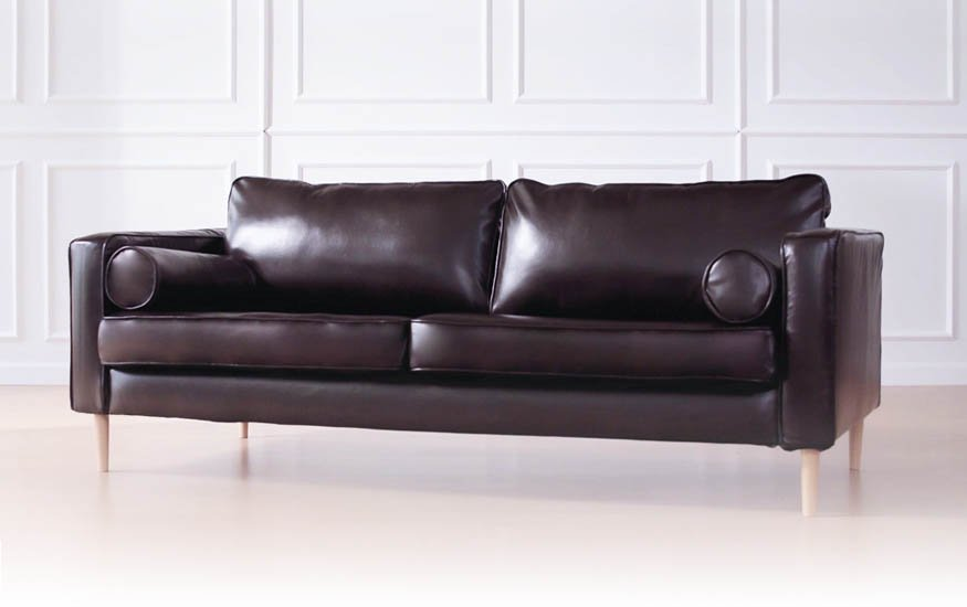 IKEA Karlstad 3 Seater Slipcover in Bycast Leather Urbanskin Kramfors by Comfort Works