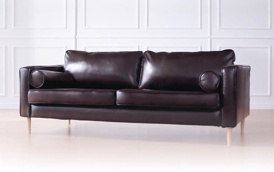 IKEA Karlstad 3 Seater Slipcover in Bycast Leather Urbanskin Kramfors by Comfort Works