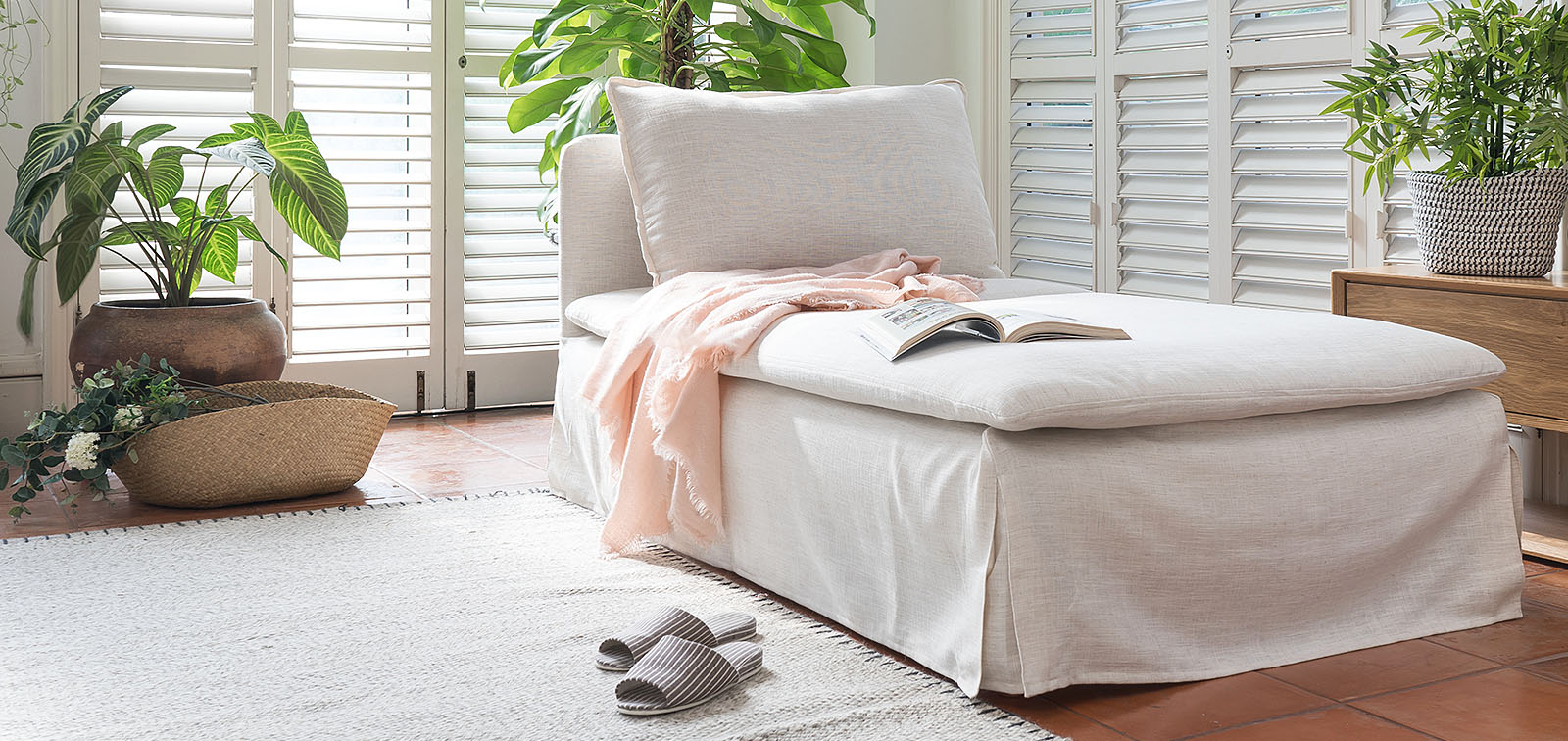 Luna Affordable Linen Custom Slipcovers Couch Covers