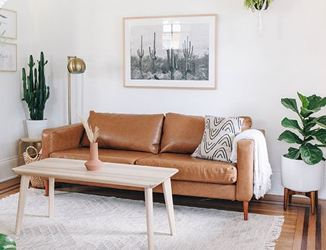 handsome fit synthetic leather savannah saddle slipcover on ikea karlstad 3 seater sofa by comfort works