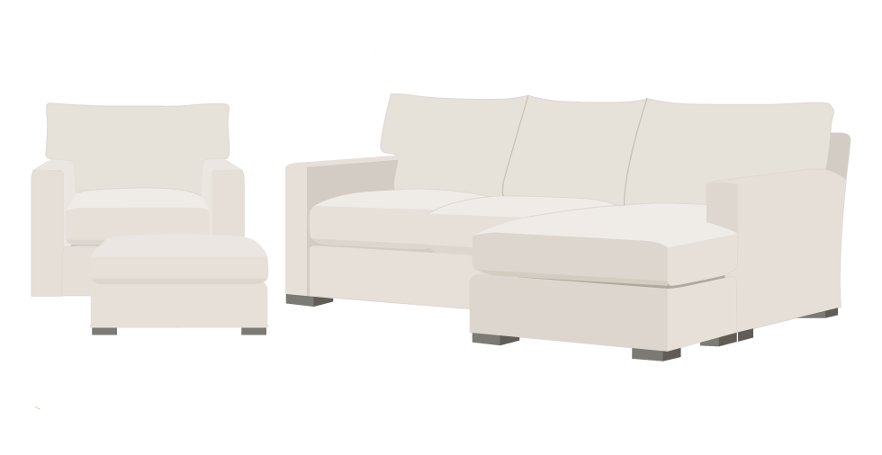 Crate and Barrel Axis Slipcover