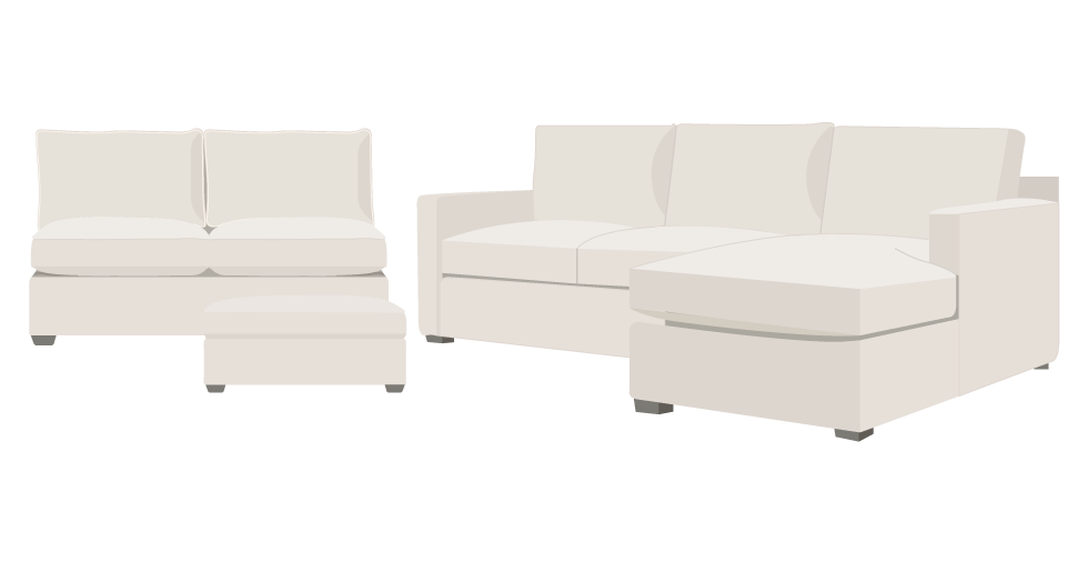 The Davis crate and barrel sofa covers