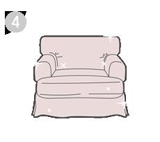 Cuarto: Obtén tus fundas de sillón de IKEA y renuévalo
