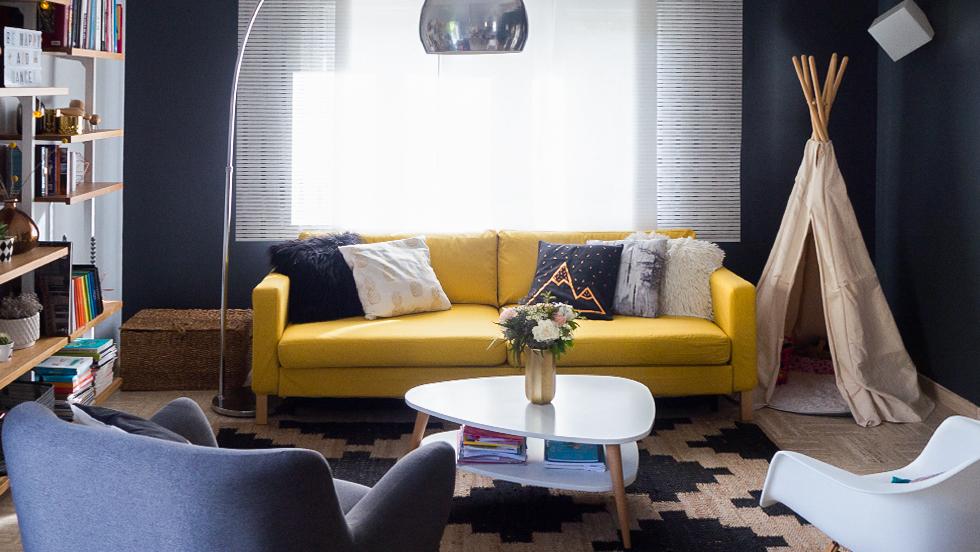 IKEA canape en Shire Mustard