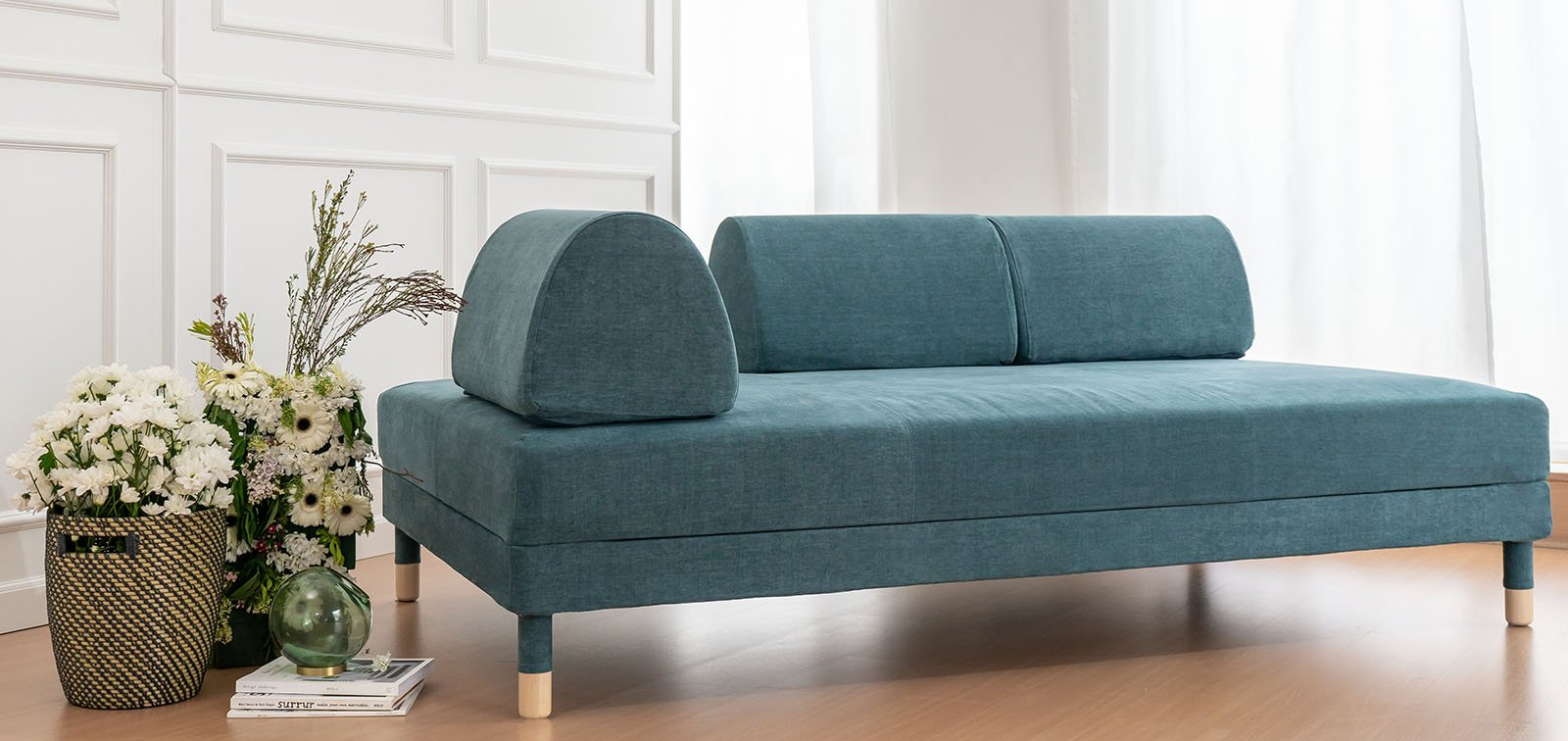 Flottebo Sofa Bed Covers in Madison Teal