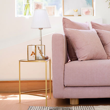 IKEA Stockholm 2017 Sofa Covers Madison Rose Cotton Blends Couch Slipcover Close Up