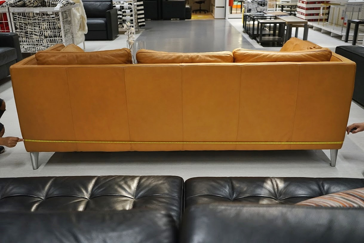 lower sofa back width