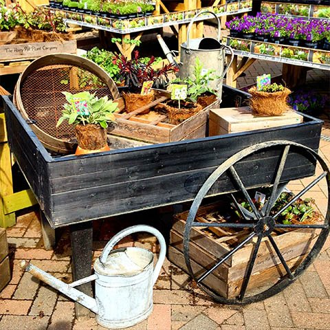 Vintage cart with pots for sale